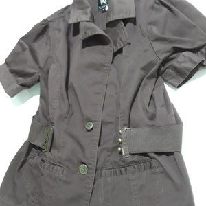 Miss Ashley brown short sleeve jacket